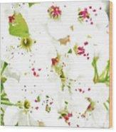Pretty Pear Petals Wood Print