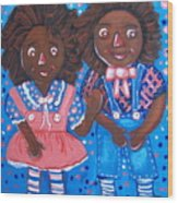 Pretty Peter And Penny Wood Print
