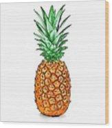 Pretty Pineapple II Wood Print