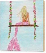 Pretty Pink Swing Wood Print