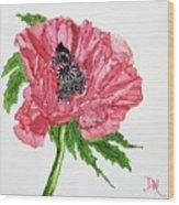 Pretty Poppy Wood Print