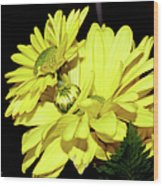 Pretty Yellow Flowers Wood Print