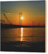 Price Legg Bridge Sunset Wood Print