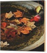 Priceless Leaves Fall Wood Print