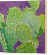 Prickly Pear Cacti  Wood Print