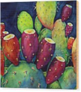 Prickly Pear Wood Print