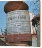 Pride Of The Farm 25 Bushel Feeder Wood Print