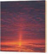 Pride Of The Prairie Sunset Wood Print