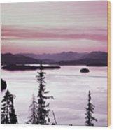 Priest Lake Wood Print