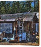 Priest Lake Lumber Mill Wood Print
