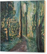 Priest Point Trail Wood Print