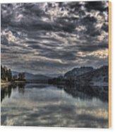 Priest River Panorama 3 Wood Print