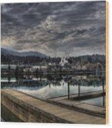 Priest River Panorama 7 Wood Print
