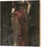 Priestess Of Delphi Wood Print