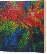 Primary Abstract II Wood Print