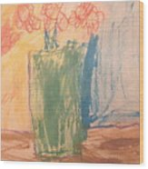 Primary Blooms Wood Print