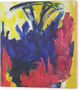 Primary Color Abstract Wood Print