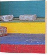 Primary Colored Doorstep Wood Print