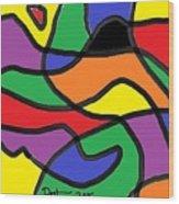 Primary Colors Wood Print