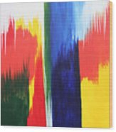 Primary Colors Wood Print