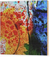 Primary Crystal Abstract Wood Print
