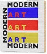 Primary Modern Wood Print