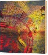 Primary Sunset Wood Print