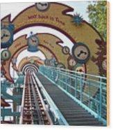Primeval Whirl Wood Print