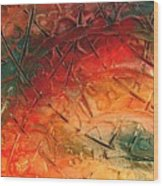 Primitive Abstract 1 By Rafi Talby Wood Print