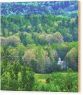 Primitive Baptist Church Of Cades Cove Wood Print