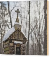 Primitive Church In The Mountains Wood Print