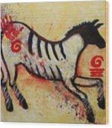 Primitive Little Horse Wood Print