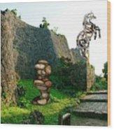 Primitive Statues Wood Print