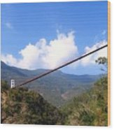 Primitive Suspension Bridge Wood Print