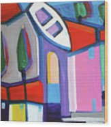 Primorski Pejsaz  13 Wood Print