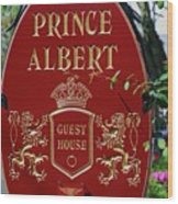 Prince Albert Guest House Sign Provincetown Wood Print
