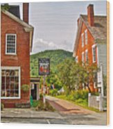 Prince And The Pauper Restaurant In Woodstock-vermont  Wood Print