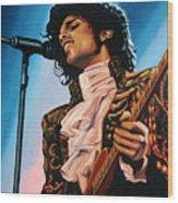 Prince Painting Wood Print