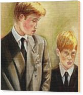 Prince William And Prince Harry Wood Print
