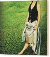 Princess Along The Grass Wood Print