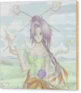 Princess Altiana Colour Wood Print