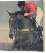 Princess Anne Riding Cnoc Na Cuille At Kempten Park Wood Print