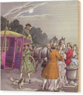 Princess Augusta, About To Give Birth, Was Bundled Into A Coach Wood Print