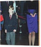 Princess Diana Harry Wood Print