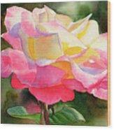 Princess Diana Rose Wood Print