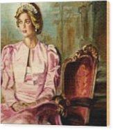 Princess Diana The Peoples Princess Wood Print by Carole Spandau