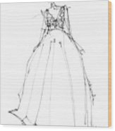 Princess Gown  Wood Print