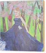 Princess In The Forest Wood Print