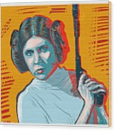 Princess Leia Wood Print