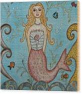 Princess Mermaid Wood Print